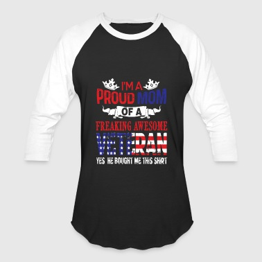 I'm A Proud Mom Of An Awesome Veteran T Shirt - Baseball T-Shirt
