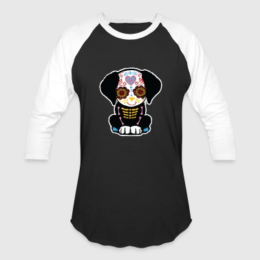 Day of Dead Dog Puppie - Baseball T-Shirt