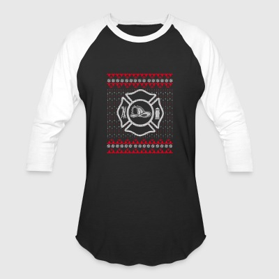 Firefighter Ugly Christmas Sweater Gift - Baseball T-Shirt