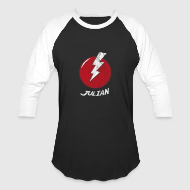 Funny Bolt Name Shirt Superhero Julian - Baseball T-Shirt