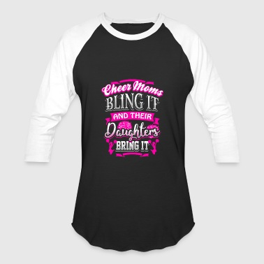 Cheer Mom Daughter Cheerleader Cheerleading Gift - Baseball T-Shirt