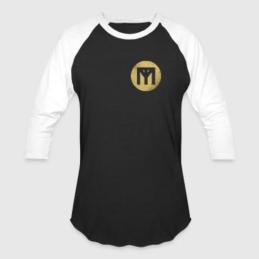 Trend Monster Gold Circle LOGO - Baseball T-Shirt