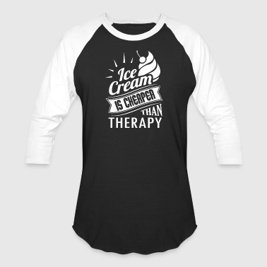 Ice Cream Therapy Shirt - Baseball T-Shirt
