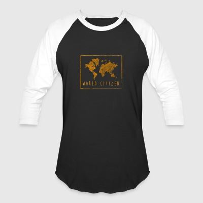 World citizen - global map - Baseball T-Shirt