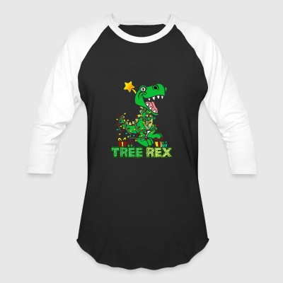 Dinosaur Christmas - Baseball T-Shirt