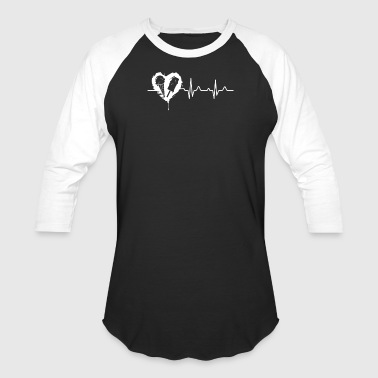 Ice Cream Heartbeat Shirt - Baseball T-Shirt