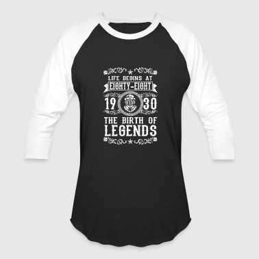 1930 88 88th Birthday years Legends gift - Baseball T-Shirt