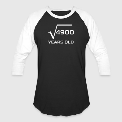 Square Root 4900 Funny 70 Years Old 70th Birthday - Baseball T-Shirt