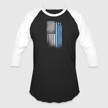 Greek American Flag - Baseball T-Shirt