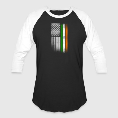 Indian American Flag - Baseball T-Shirt