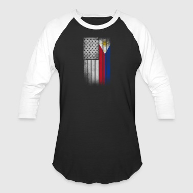Filipino American Flag - Half Filipino Half Americ - Baseball T-Shirt