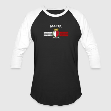 Maltese Flag Shirt - Maltese Emblem & Malta Flag S - Baseball T-Shirt