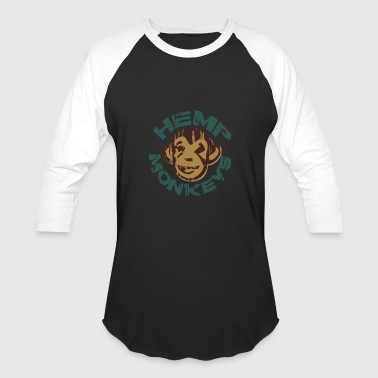 Hemp monkeys - Baseball T-Shirt