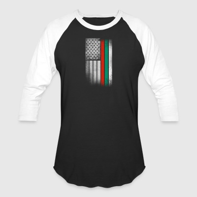 Bulgarian American Flag - Baseball T-Shirt