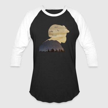 Crew Chief Silhouette with Mount Rainier - Baseball T-Shirt