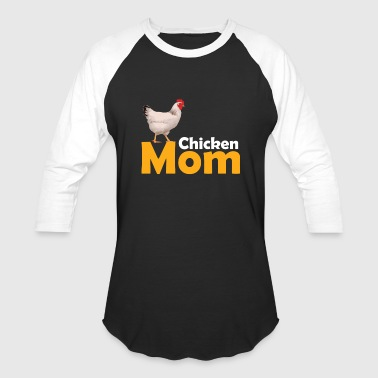 Funny Chicken Themed Chicken Mom Shirt - Baseball T-Shirt