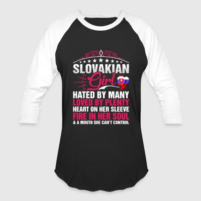 Slovakian Girl Cant Control - Baseball T-Shirt