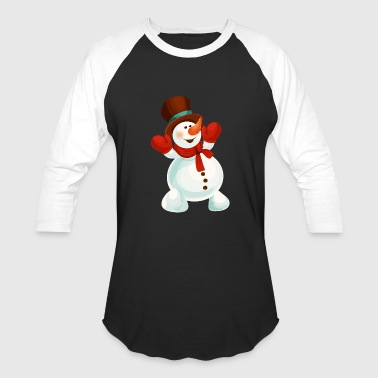 Happy New Year snowman Merry Christmas cool vector - Baseball T-Shirt