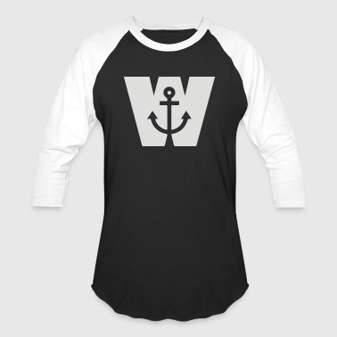 Wanker W Anchor - Baseball T-Shirt