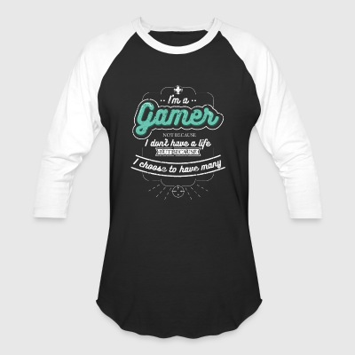 Im A Gamer Funny Gamer Shirt Gamer T Shirt Girl Gamer Shirt - Baseball T-Shirt