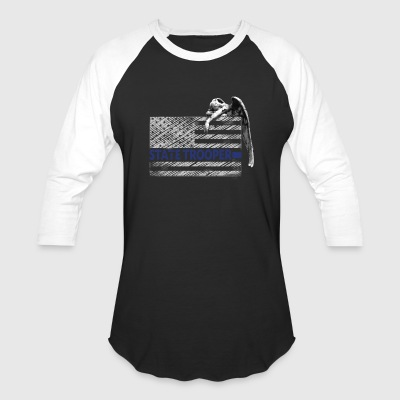 State Trooper Thin Blue Line Guardian Angel - Baseball T-Shirt
