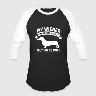 wiener dog design - Baseball T-Shirt