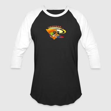 Surfer on shirt - Baseball T-Shirt