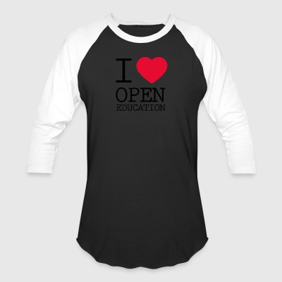 I Love Open Education - Baseball T-Shirt