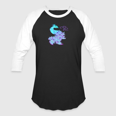 Colorful Peacock - Baseball T-Shirt