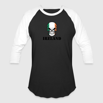Irish Flag Skull Ireland - Baseball T-Shirt