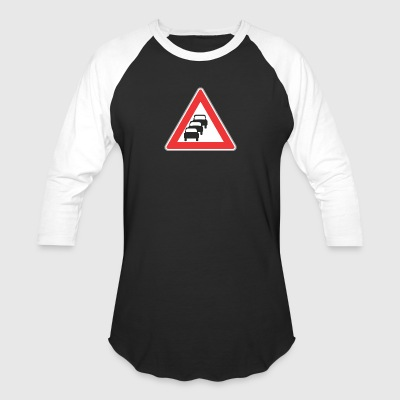 Road_sign_3_cars - Baseball T-Shirt