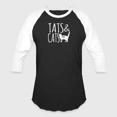 Tattoo and Cats shirt - Baseball T-Shirt