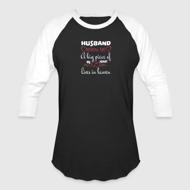 My Husband In Heaven T Shirt - Baseball T-Shirt