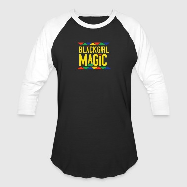 Black Girl Magic - Tribal Design (Yellow Letters) - Baseball T-Shirt