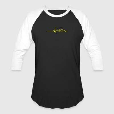 EKG HEARTLINE BIKE yellow - Baseball T-Shirt