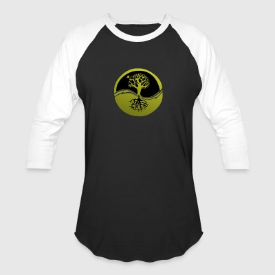 Tree with Roots - Baseball T-Shirt