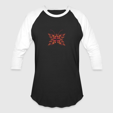 flaming butterfly - Baseball T-Shirt