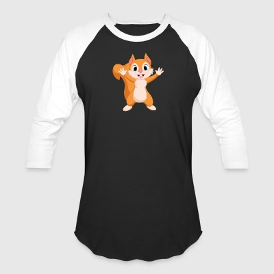 Squirrel animal wild life drawing - Baseball T-Shirt