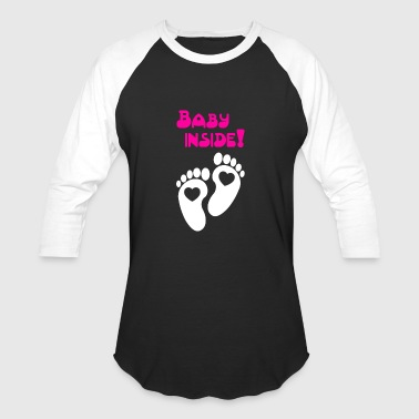 Baby inside Pregnancy - Baseball T-Shirt