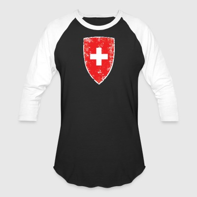 Swiss Flag - Baseball T-Shirt