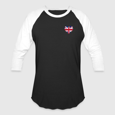 UK Flag Shirt Heart - Brittish Shirt - Baseball T-Shirt