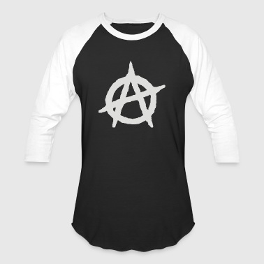 Anarchy Anarchist Symbol - Baseball T-Shirt