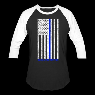 Distressed Blue Lives Matter Tee - Baseball T-Shirt