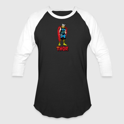 Full Colored 80's The Mighty Thor - Baseball T-Shirt