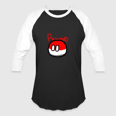 Polandball - Baseball T-Shirt