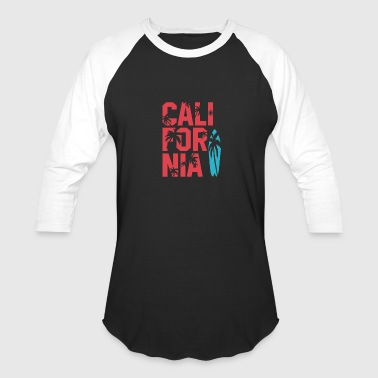California Surfing - Baseball T-Shirt