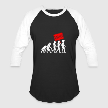 Black Lives Matter Evolution - Baseball T-Shirt