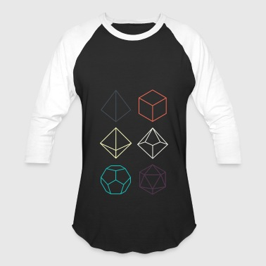 Minimal dnd (dungeons and dragons) dice - Baseball T-Shirt