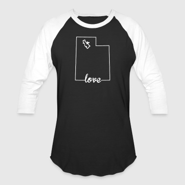 Utah Love State Outline - Baseball T-Shirt