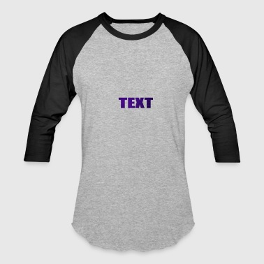 TEXT - Baseball T-Shirt